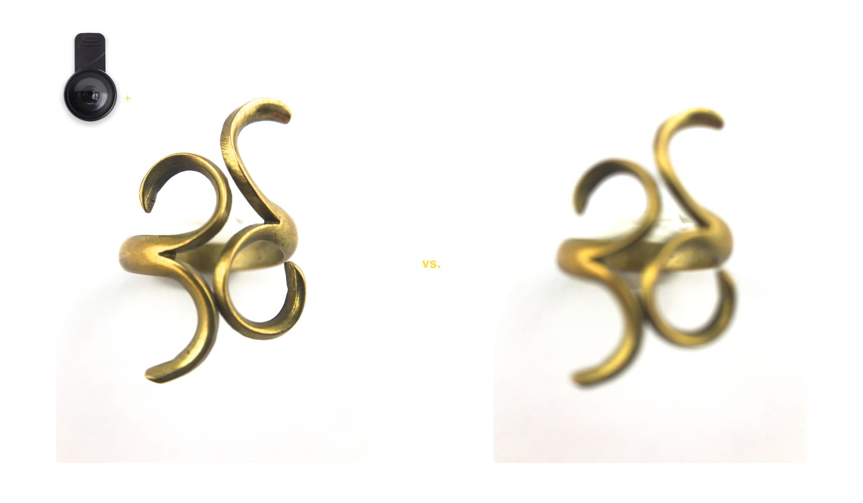 example of a photo taken with and without a macro iPhone lens