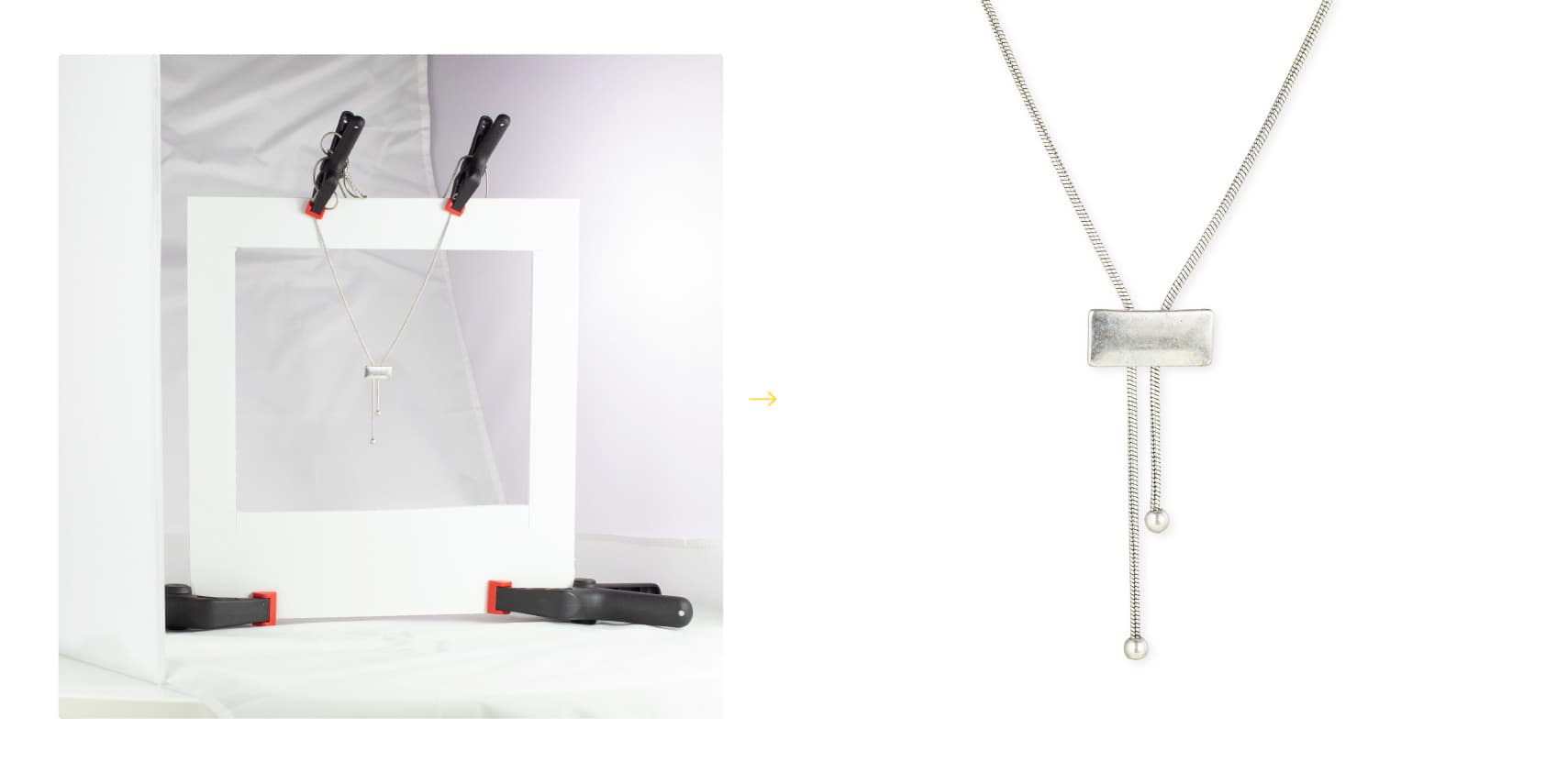 how we staged a pendant necklace for photography