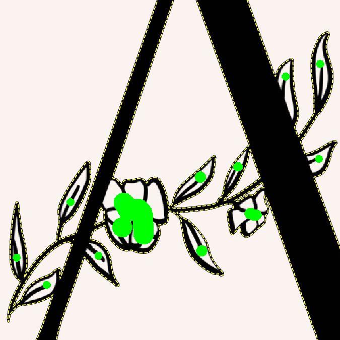 Imagen original del tutorial con marcas